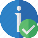 about, data, details, help, information, ok icon