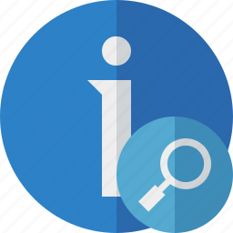about, data, details, help, information, search icon