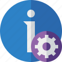 about, data, details, help, information, settings icon