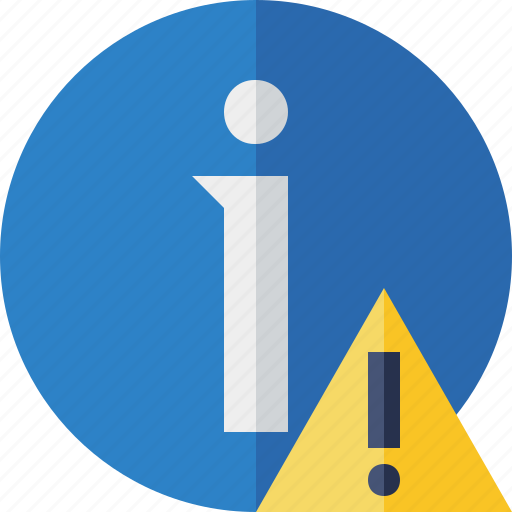 about, data, details, help, information, warning icon