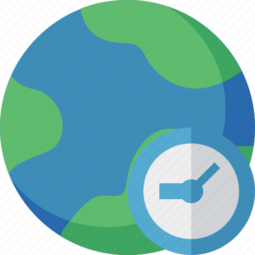 clock, earth, internet, planet, web, world icon