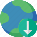 download, earth, internet, planet, web, world icon
