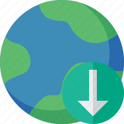 download, earth, internet, planet, web, world icon