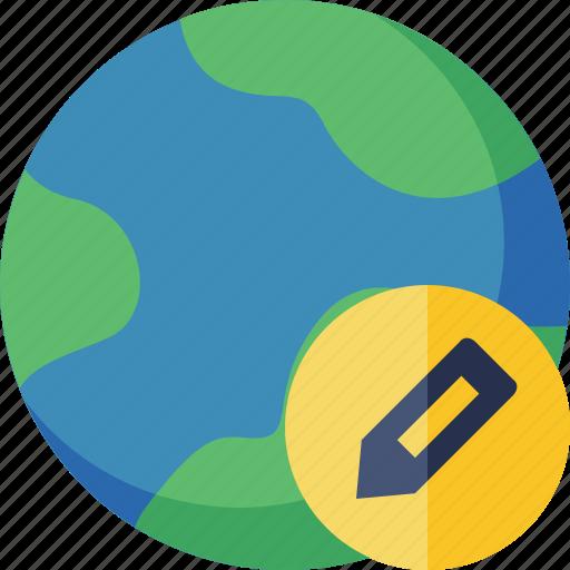earth, edit, internet, planet, web, world icon