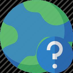 earth, help, internet, planet, web, world icon