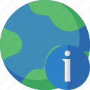 earth, information, internet, planet, web, world icon
