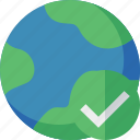 earth, internet, ok, planet, web, world icon