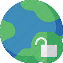 earth, internet, planet, unlock, web, world