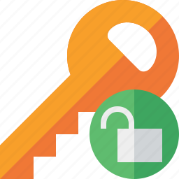 key, lock, password, protect, secure, security, unlock icon