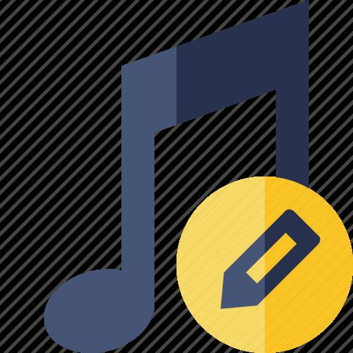 audio, edit, multimedia, music, note, sound icon