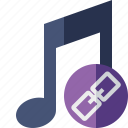 audio, link, multimedia, music, note, sound icon