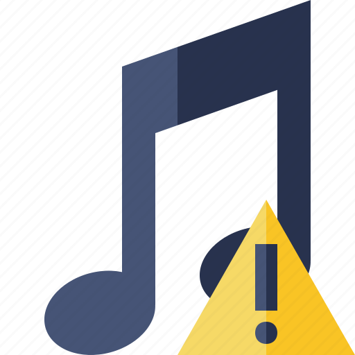 audio, multimedia, music, note, sound, warning icon