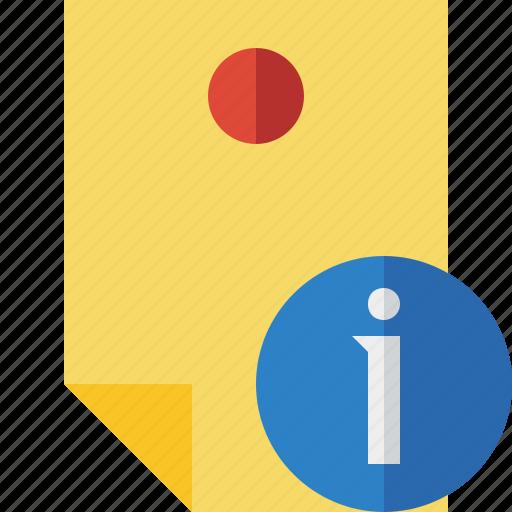 Document, information, memo, note, pin, reminder, sticker icon - Download on Iconfinder