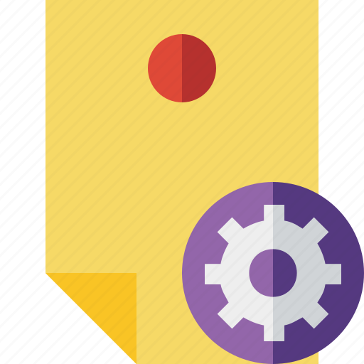 Document, memo, note, pin, reminder, settings, sticker icon - Download on Iconfinder