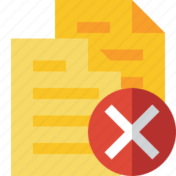 cancel, copy, documents, duplicate, files icon