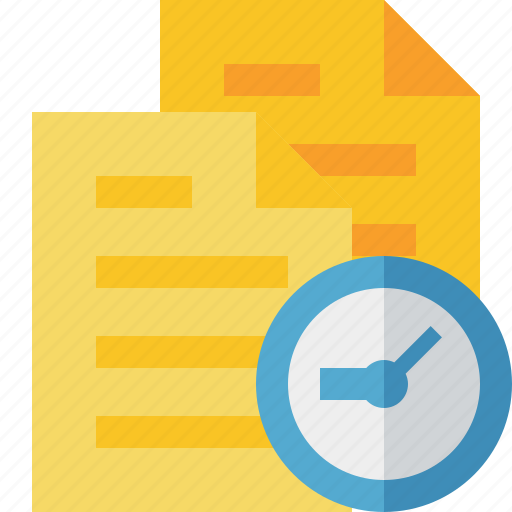 clock, copy, documents, duplicate, files icon