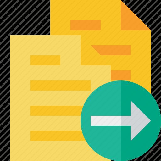 copy, documents, duplicate, files, next icon