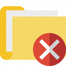 cancel, category, documents, file, folder icon