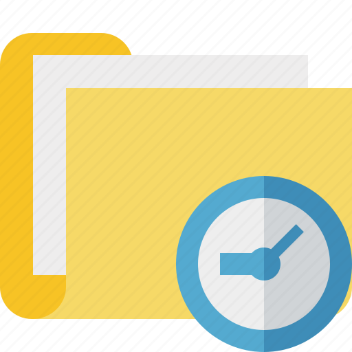 Category, clock, documents, file, folder icon - Download on Iconfinder
