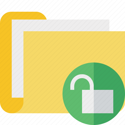 category, documents, file, folder, unlock icon