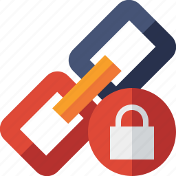chain, connection, link, lock, url, web icon