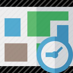 clock, location, map, navigation, travel icon