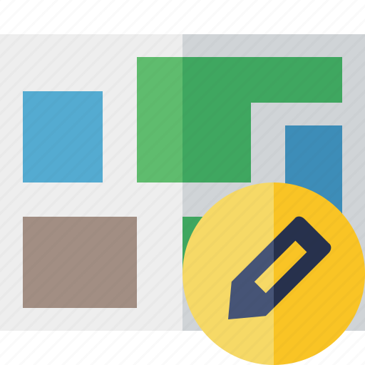 edit, location, map, navigation, travel icon