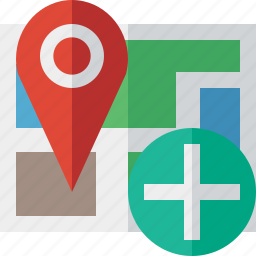 add, gps, location, map, marker, navigation, pin icon