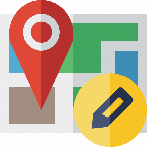 edit, gps, location, map, marker, navigation, pin icon