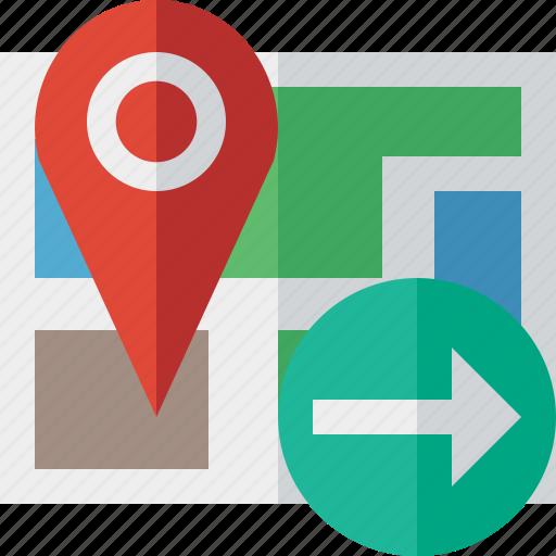 gps, location, map, marker, navigation, next, pin icon