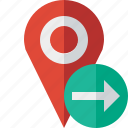 gps, location, map, marker, navigation, next, pin icon