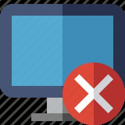 cancel, computer, desktop, display, monitor, screen icon