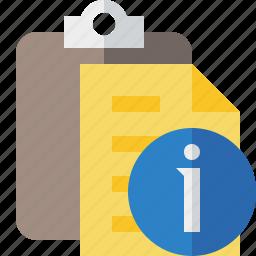 clipboard, copy, information, paste, task icon
