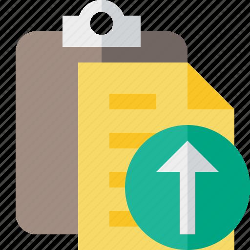 clipboard, copy, paste, task, upload icon