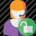 help, service, support, unlock