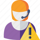 help, service, support, warning icon