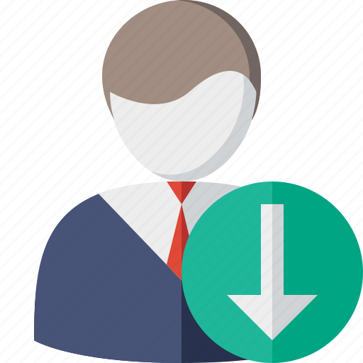 account, business, client, download, office, user icon