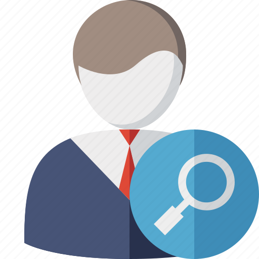 account, business, client, office, search, user icon