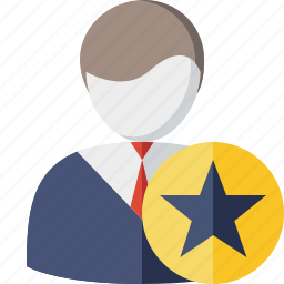 account, business, client, office, star, user icon
