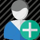 account, add, client, male, profile, user
