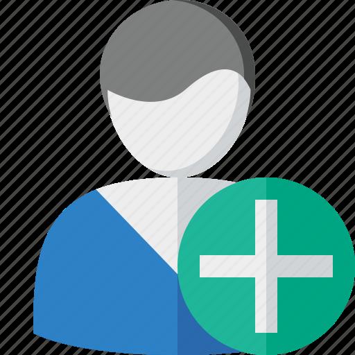 account, add, client, male, profile, user icon