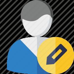 account, client, edit, male, profile, user icon