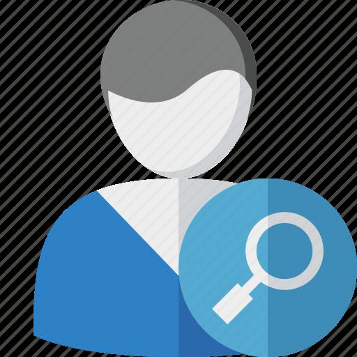 account, client, male, profile, search, user icon