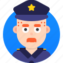 avatar, emoji, face, head, man, policeman, profile icon