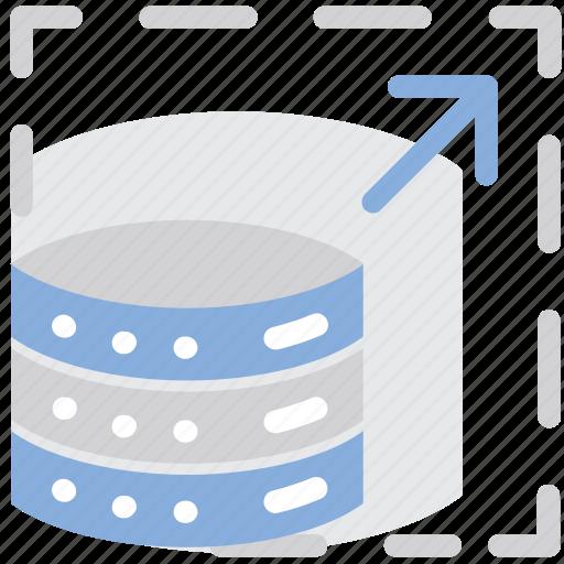 data, flexibility, scalability, scale, storage icon