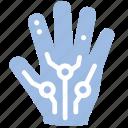 big data, hand, input, type icon