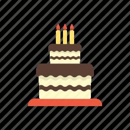birthday, cake, candles, celebration, food, party, tart icon