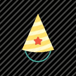 birthday, cap, celebration, decoration, happy, hat, party icon