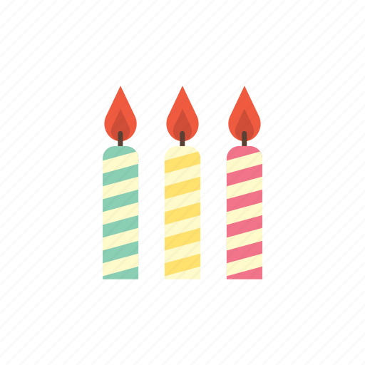 birthday, candle, candles, celebration, colourful, light, party icon