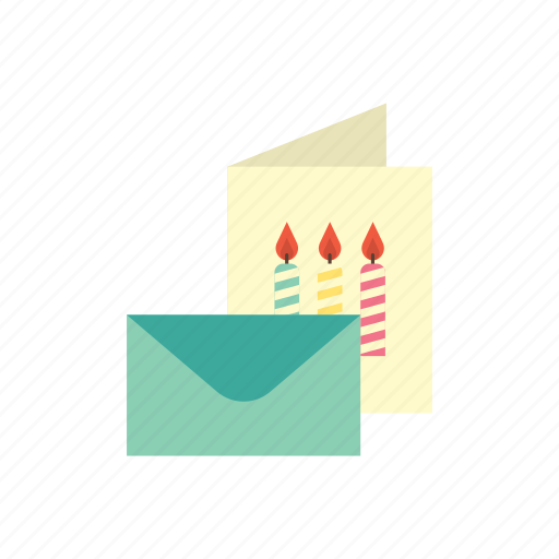 birthday, card, celebration, envelope, happy, invitation, party icon